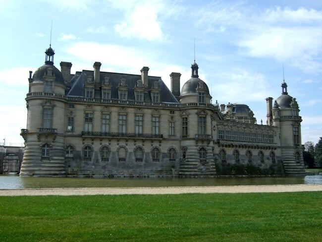Chateau de Chantilly Surrounded by Water