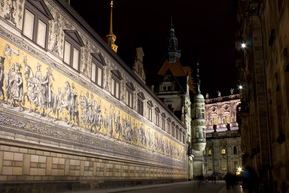 Procession of Princes Porcelain Mural Dresden