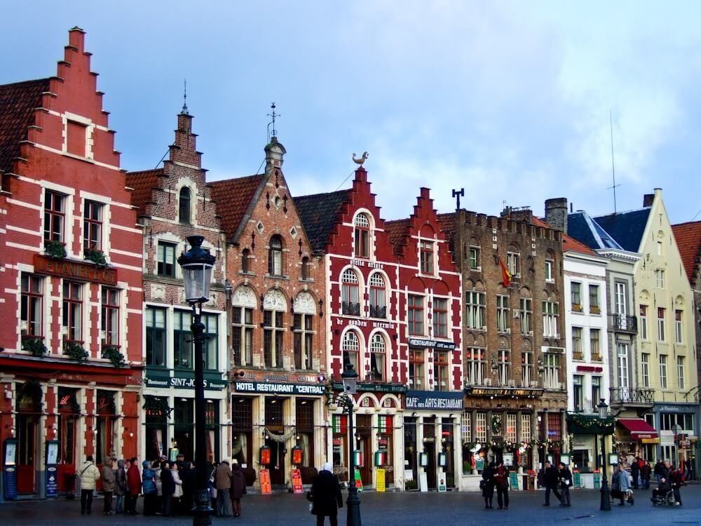 Typical Flemish Houses in Bruges