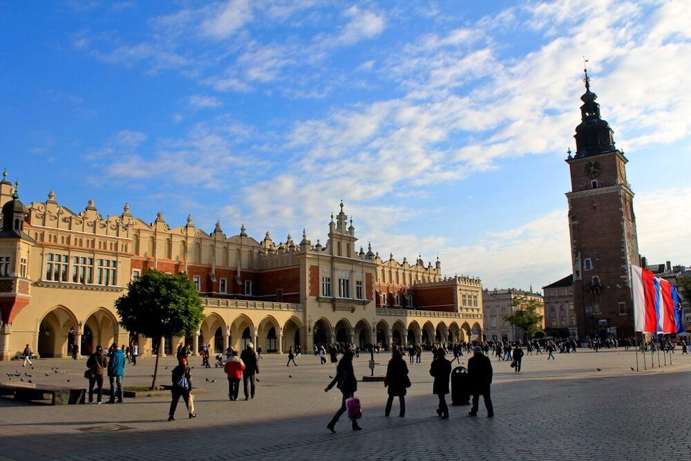 Main Market Square in Krakow Poland