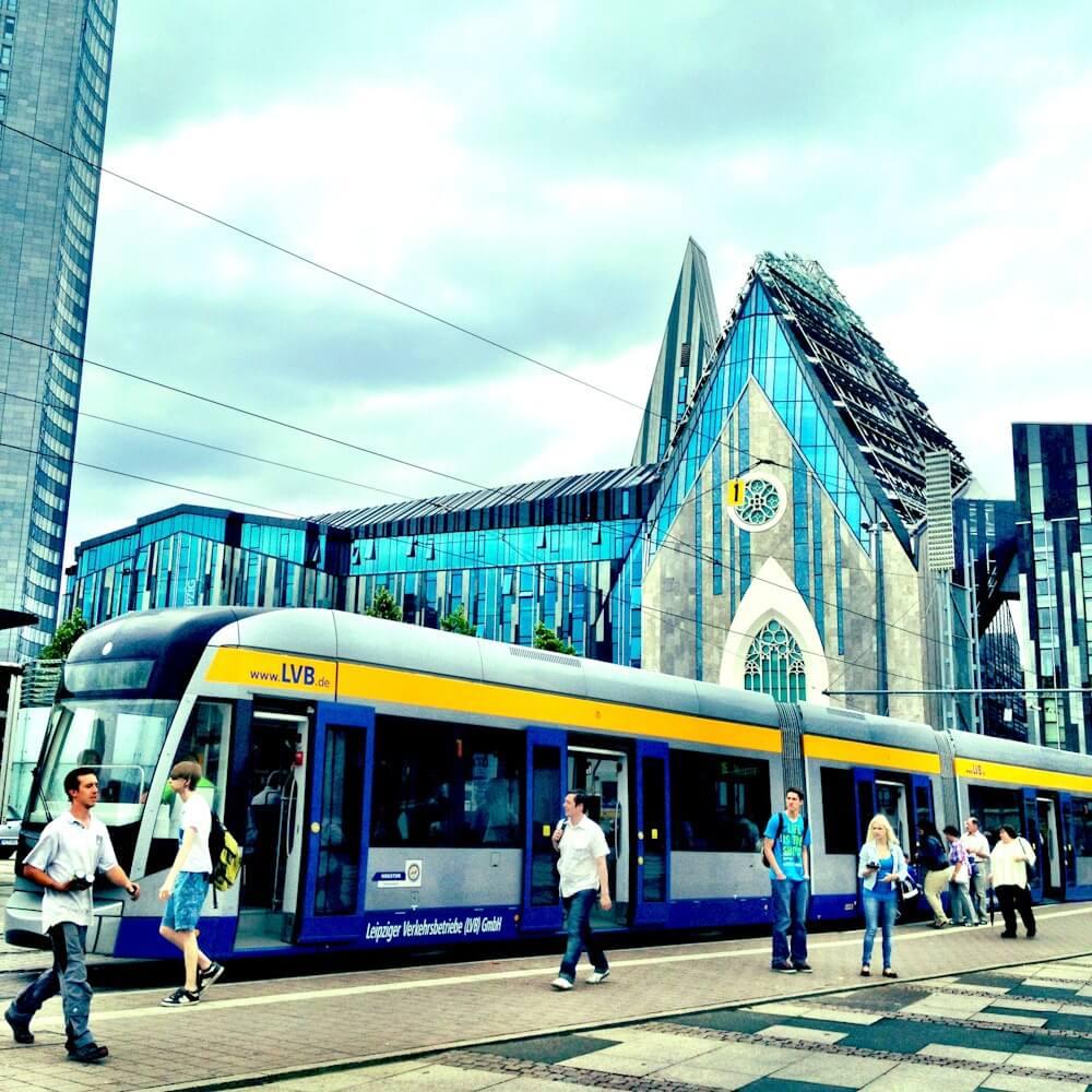 Modern Architecture in Augustusplatz Leipzig