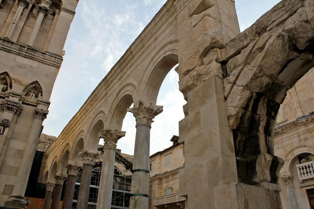 Roman Ruins in Split Croatia