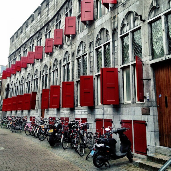 Pretty Red Shutters in Utrecht