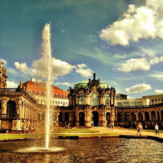 The Zwinger Museum Courtyard