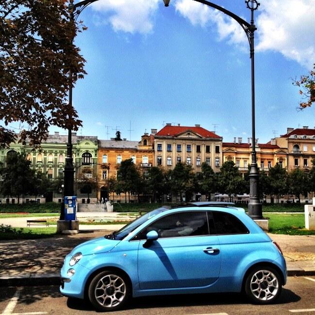 Fiat in Trg Kralja Tomislava Zagreb