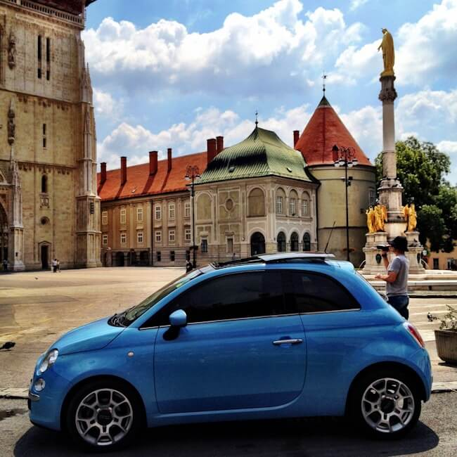 Fiat 500 in Zagreb Croatia
