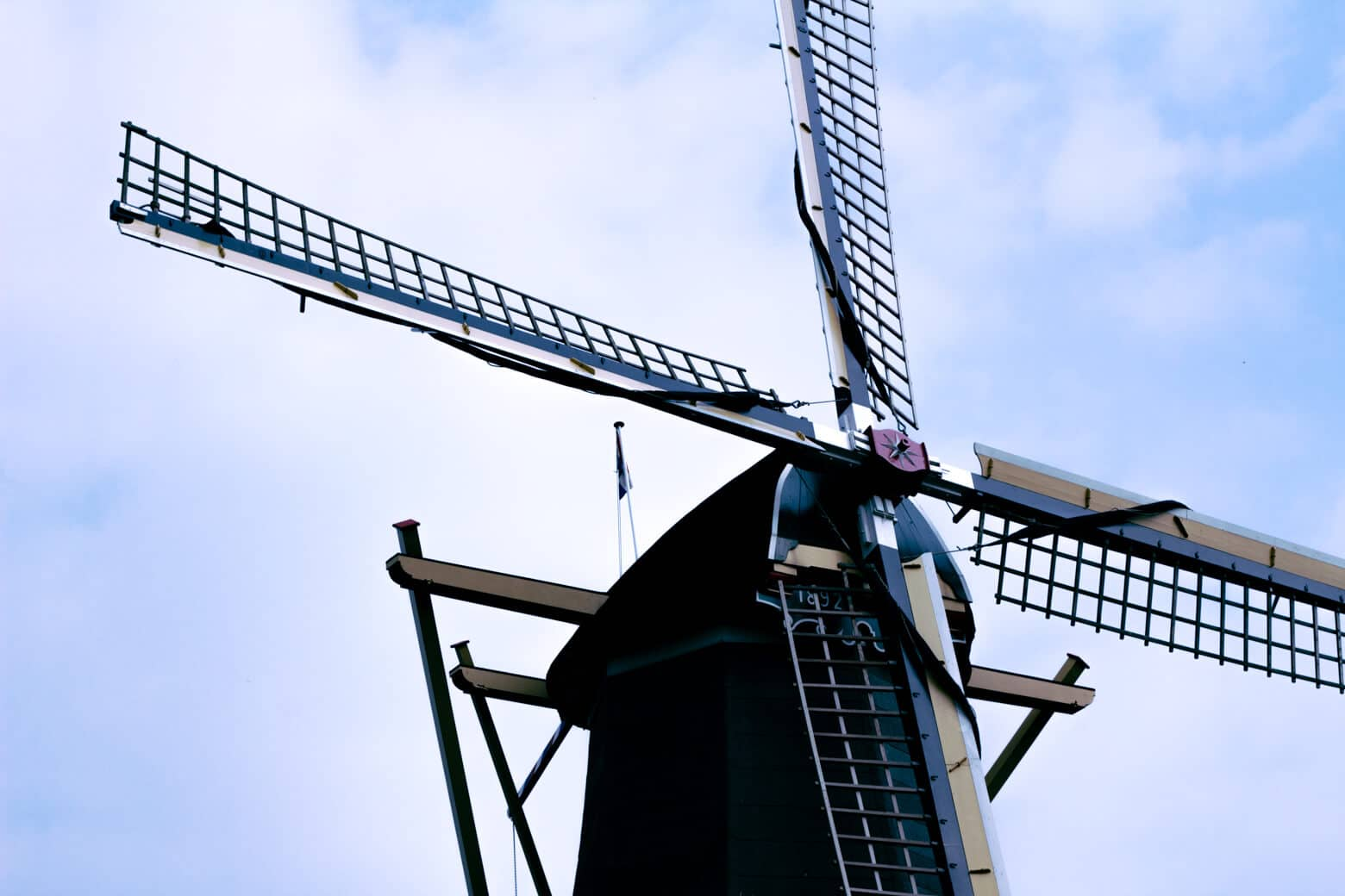 Dutch Windmill at Keukenhof in the Netherlands