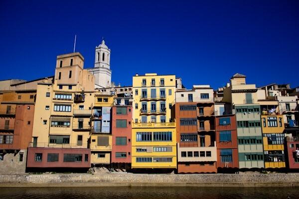 Girona on a sunny day.