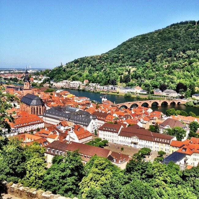 Overlooking Heidelberg