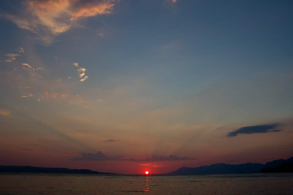 Croatian Sunset in Makarska