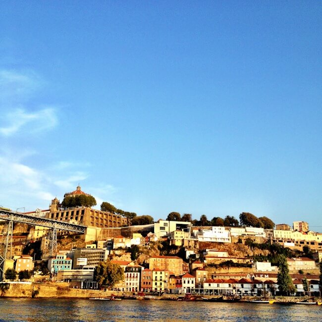 Gaia as seen from a Douro River Cruise in Porto