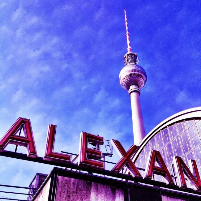 Berlin TV Tower Alexanderplatz in former East Berlin