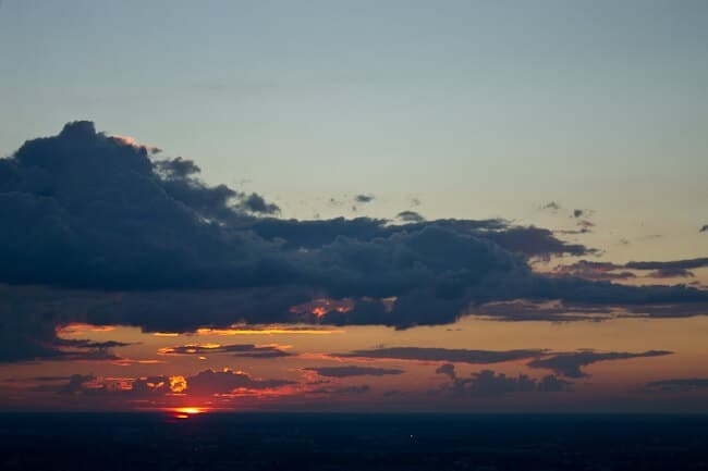 Sunset from the Berlin TV Tower