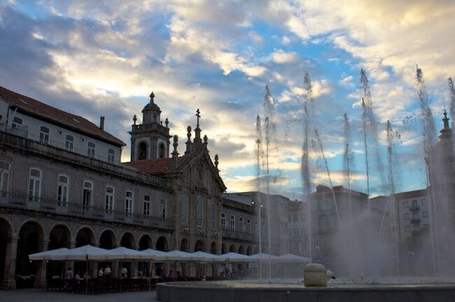 Republic Square in Braga Portugal