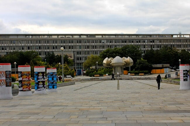Communist Era Square in Bratislava Slovakia