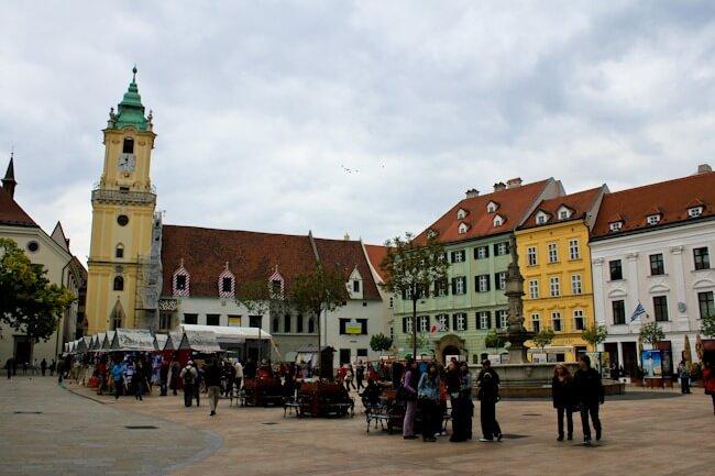 Bratislava's Main Square - Hlavné Námestie