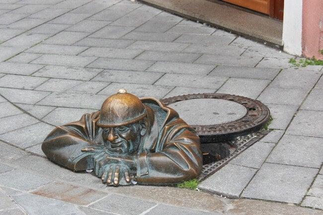 Street Art Statues in Bratislava