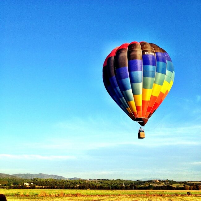 Taking A Hot Air Balloon Ride In Spain With Globus Emporda