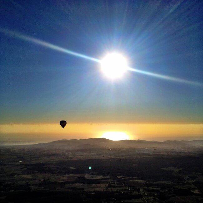 Balloon ride over the Spanish coast