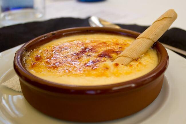 Crema Catalana in Costa Brava