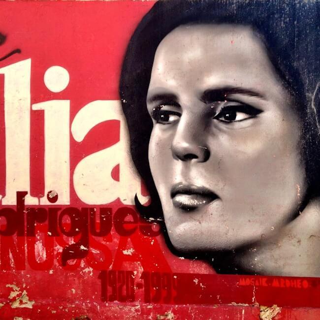 Amália Rodrigues - Fado Singer - Lisbon Street Art