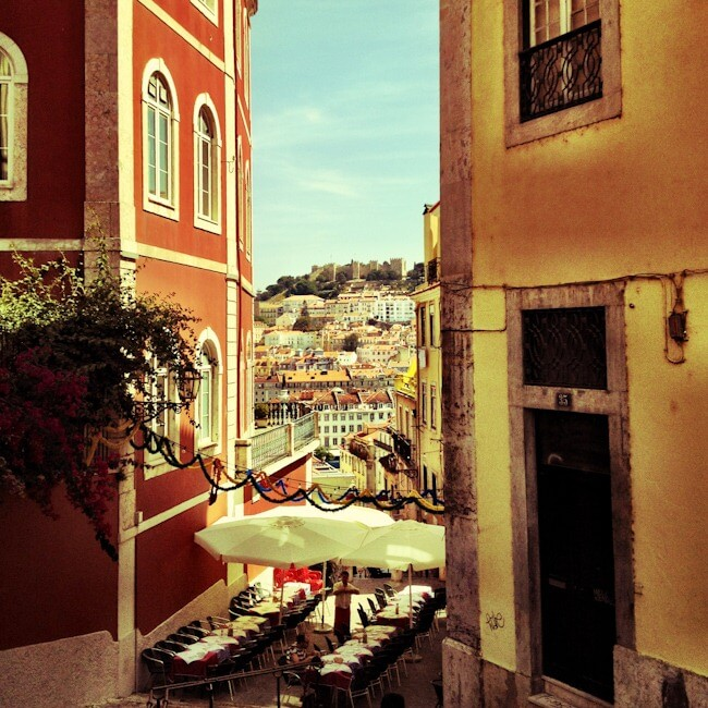 Up in the old town of Lisbon