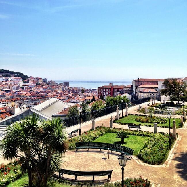 Jardim de S. Pedro de Alcântara - Jardim António Nobre Lisbon