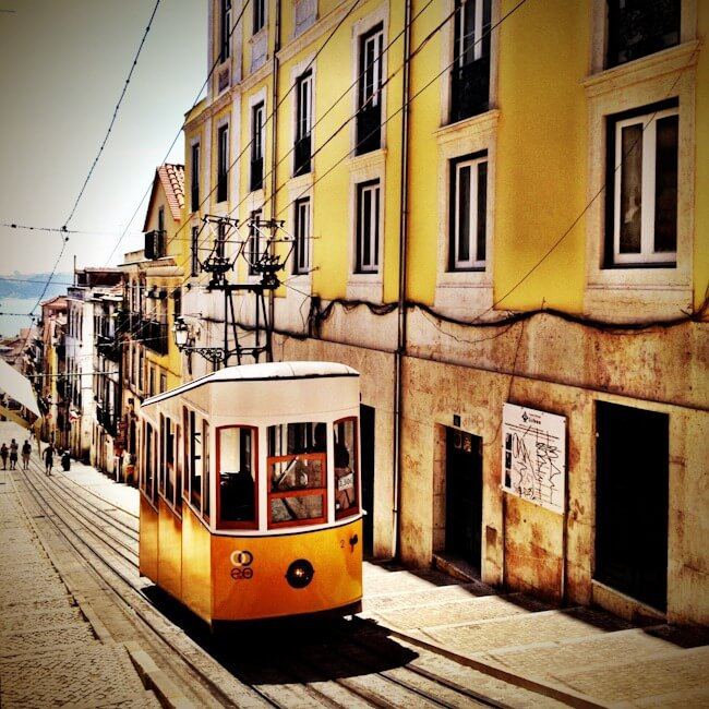 Lisbon's historic yellow tram