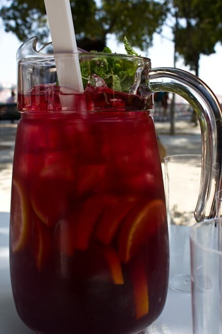 Sangria in the Park in Lisbon