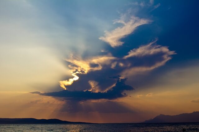 Cloudy Sunset in Croatia