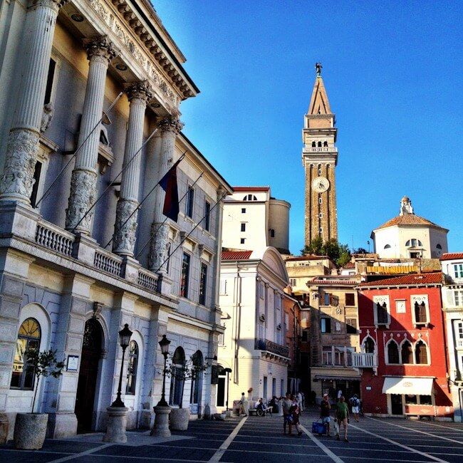 Venetian Town Piran on Slovenia's Istrian Coast