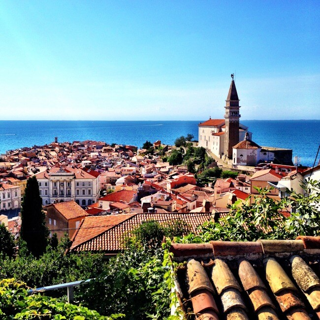 View of Piran and the Slovenian Coast