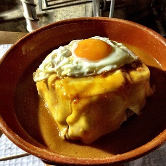 Francesinha at Taberninha do Manel in Porto