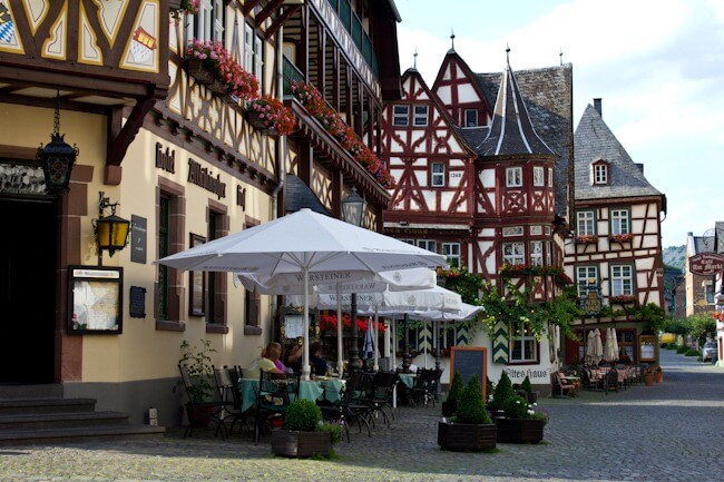 Bacharach on the Rhine in Germany