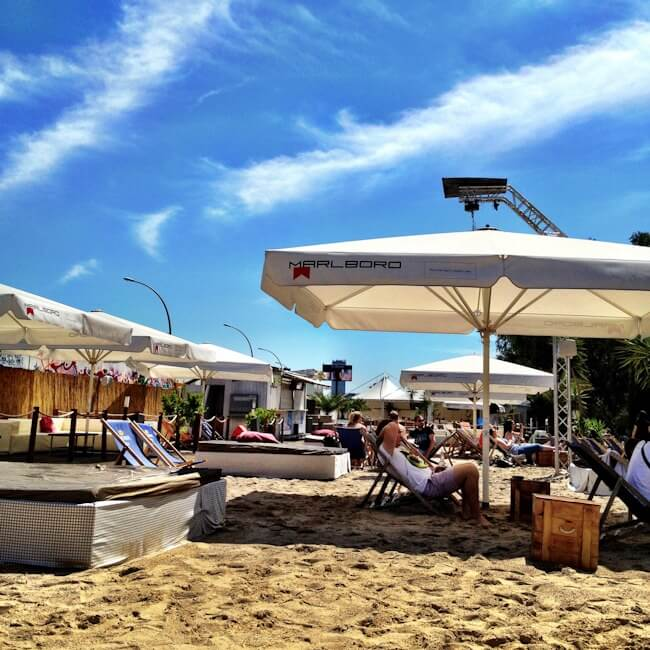 Berlin Beach Bar on the Spree