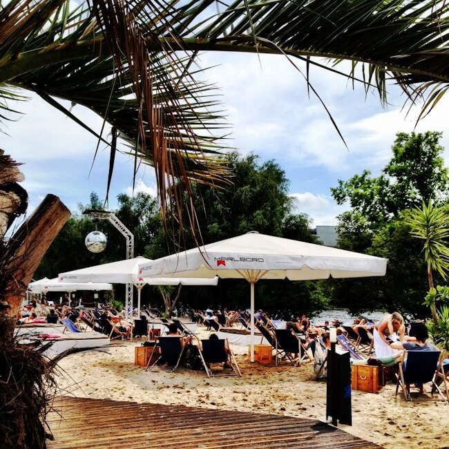 Beach Bar Near Ostbahnhof in Berlin