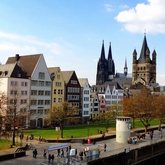 Cologne Altstadt from the Deutz Bridge