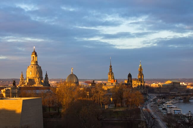 View of Dresden from the Hotel Am Terrassenufer