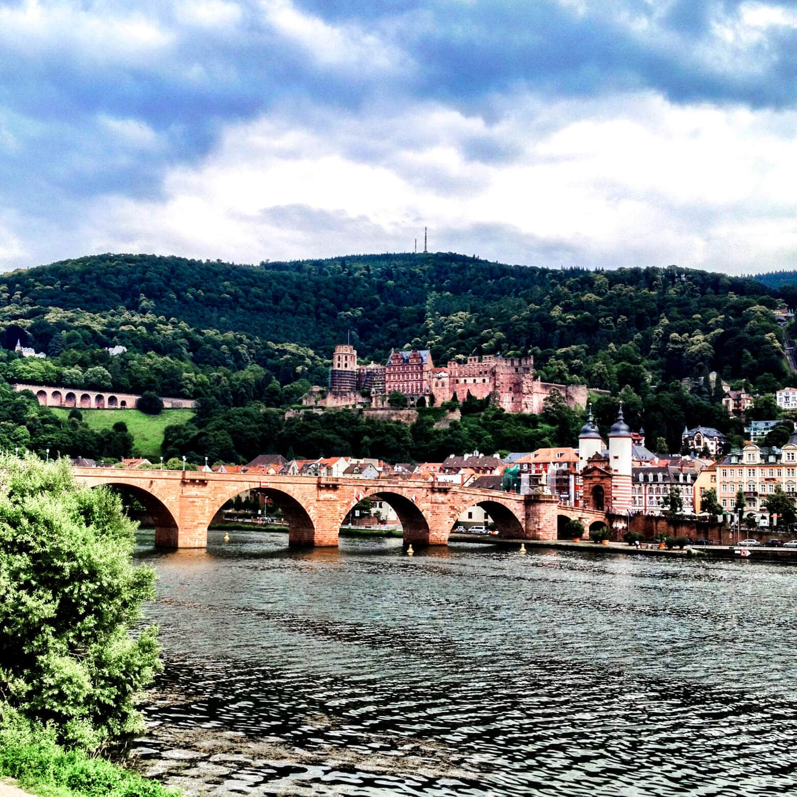 Heidelberg from the Riverside Park