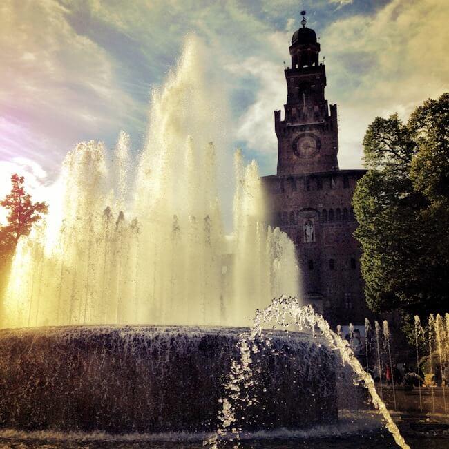 Castello Sforzesco Fountain Milan