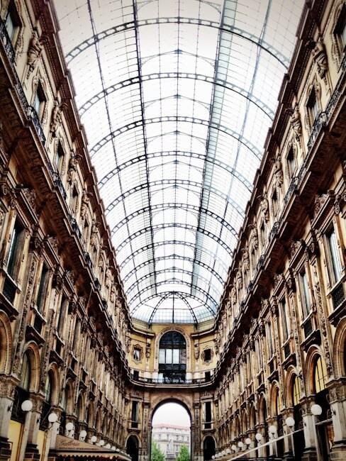 Galleria Vittorio Emanuele Shopping Arcade in Milan