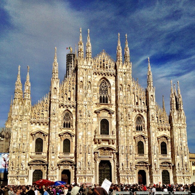 The Duomo Cathedral in Milan, Italy