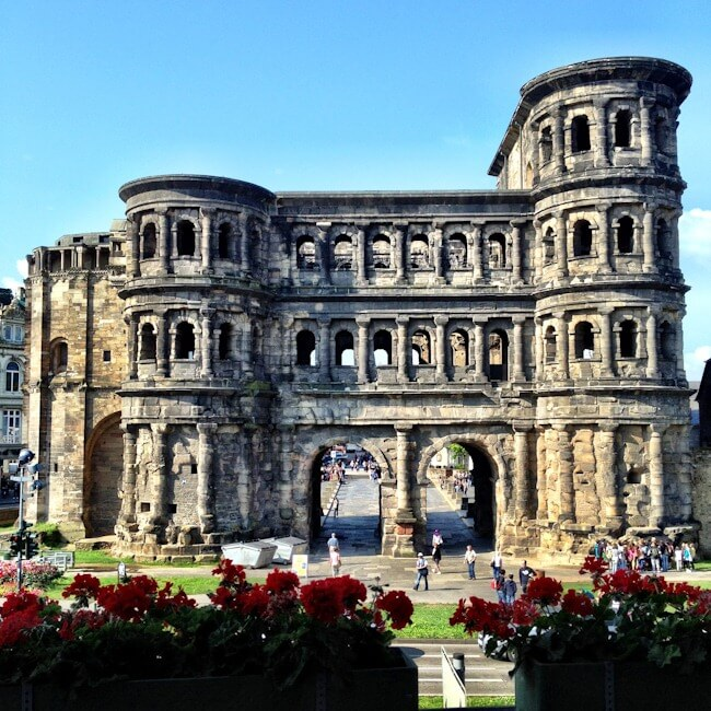 Trier's Porta Nigra taken from the Mercure Hotel