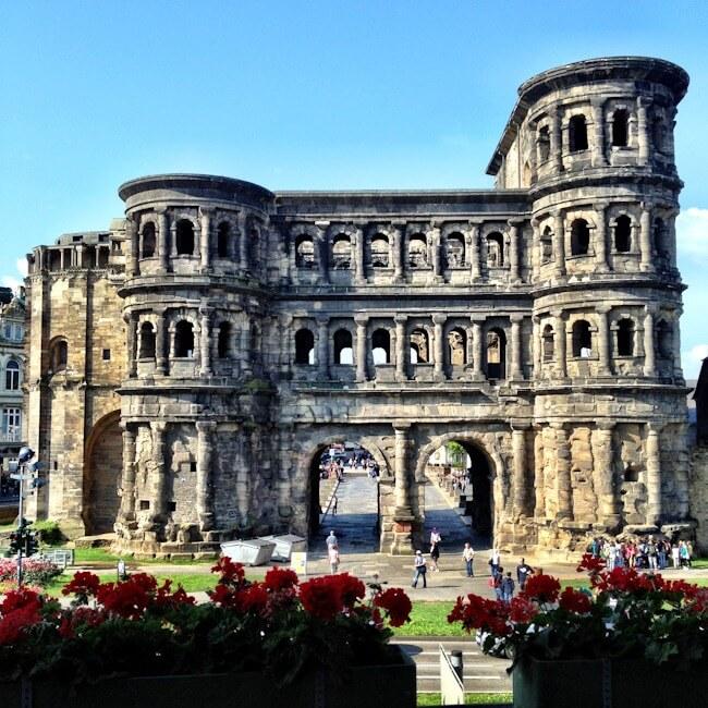 Trier's Porta Nigra taken from the Mercure Hotel