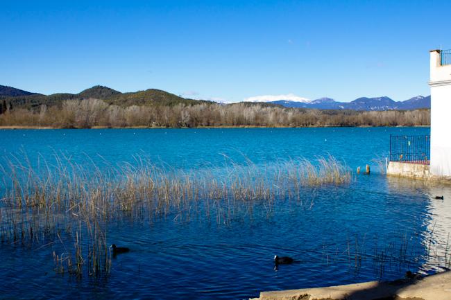 Lake Banyoles Near Girona Spain