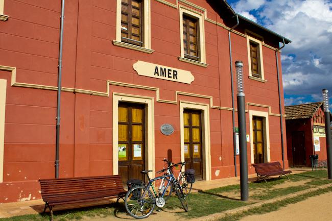 Amer Train Station Greenways Costa Brava