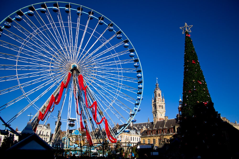 Lille's Main Square Christmas Decorations