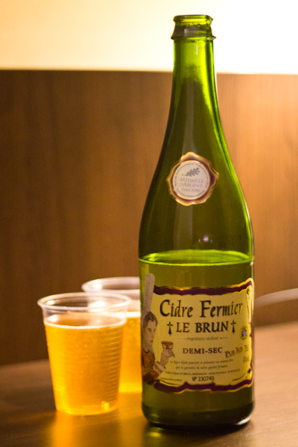 Drinking Sweet Cider in Lille