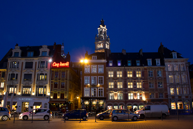 Flemish Architecture at Place Charles de Gaulle in Lille France