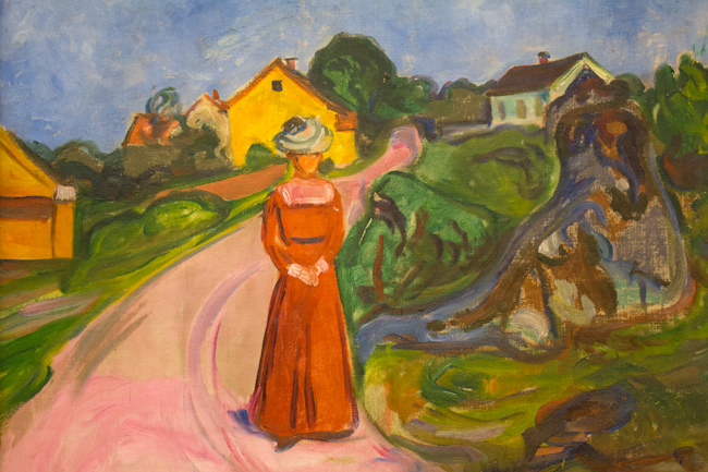 Edvard Munch's 'Woman in Red Dress'